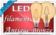 Фото Бронзовые LED лампы типа Filament серия Antique Bronze