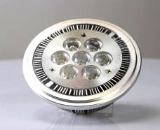 Фото AR111 G53 7x1W CREE.. Лампа светодиодная с цоколем G53, 7 диодов по 1Вт