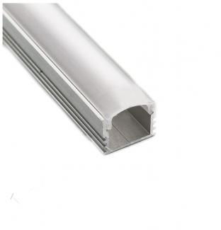 Фото1 Профиль алюминиевый №19 для светодиодных лент накладной 16х12мм (комплект)
