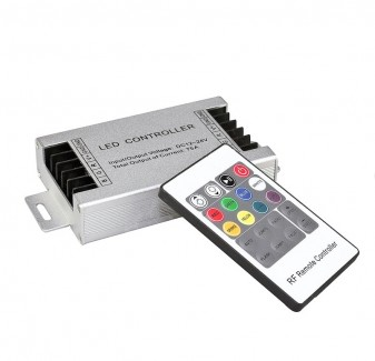 Фото1 RGB контроллер ИК20 ДУ 12-24В, 15А