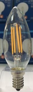 Фото3 SLL E14-C35-4W - LED лампа филамент, 4W, тип С35, цоколь E14, свеча