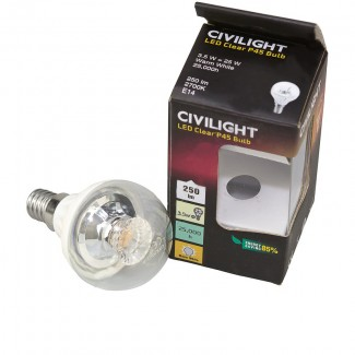 Фото1 Лампа светодиодная CIVILIGHT G45 E14-3.5W Cristall Clear (warm white)