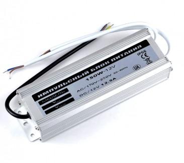 Фото1 PSR12VDC-12.5A-150W - Импульсный блок питания, в металлическом корпусе, 12V, 12.5A, 150W, IP67