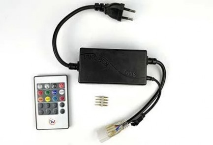 Фото4 LED лента 220V STANDART #16 - Multi-Color RGBWYP, SMD2835, 180 д/м, 10W, IP65 + комплектующие