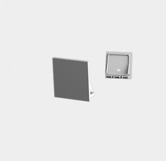 Фото1 LP35359F - Заглушка без отверстия для профиля LP35351F