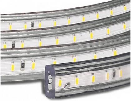 Фото1 LED лента 220V STANDART #15  - SMD3014, 120 д/м, 5.5W, белый нейтральный, IP65 + комплектующие