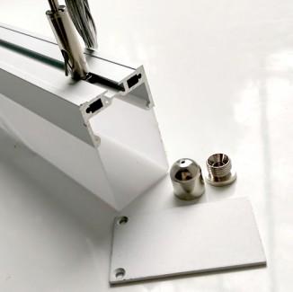 Фото1 Профиль алюминиевый №27 для светодиодных лент накладной 35х61мм (комплект)
