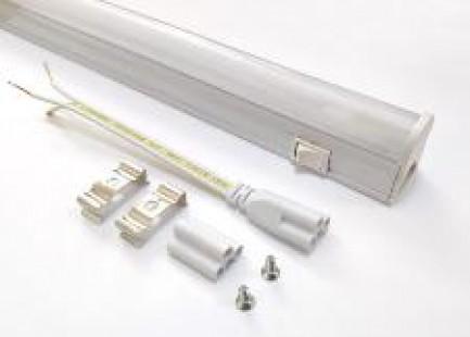 Фото1 30./. Линейный наборной LED светильник для мебели T5 (IP20), матовый