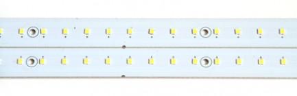 Фото3 MTK-2835.. 14W Комплект LED линеек (2 шт), 160-260 В, для замены ламп дневного света 14W