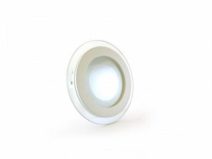 Фото1 455/. Светильник светодиодный потолочный, круглый врезной, Glass Rim, 220В, 6 Вт, ф97