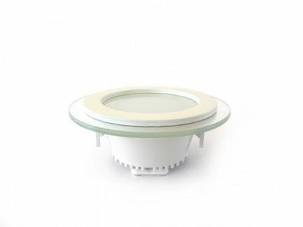 Фото2 455/. Светильник светодиодный потолочный, круглый врезной, Glass Rim, 220В, 6 Вт, ф97