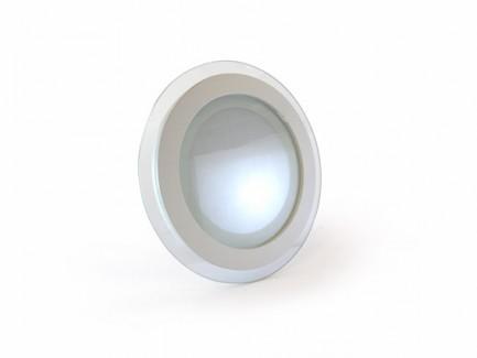 Фото1 456/. Светильник светодиодный потолочный, круглый врезной, Glass Rim, 220В, 12 Вт, ф160