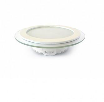 Фото2 456/. Светильник светодиодный потолочный, круглый врезной, Glass Rim, 220В, 12 Вт, ф160