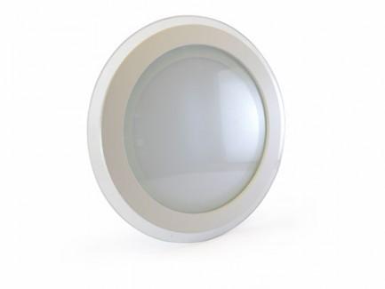 Фото1 457/. Светильник светодиодный потолочный, круглый врезной, Glass Rim, 220В, 18 Вт, ф200