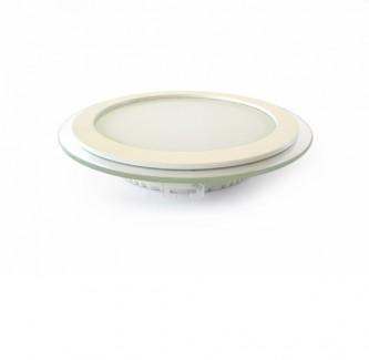 Фото2 457/. Светильник светодиодный потолочный, круглый врезной, Glass Rim, 220В, 18 Вт, ф200