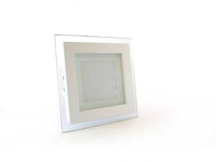 Фото1 458/. Светильник светодиодный потолочный, квадратный врезной, Glass Rim, 220В, 6 Вт, 97мм