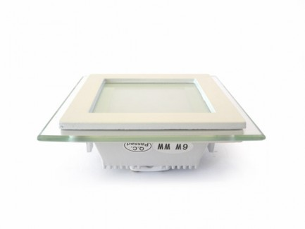 Фото2 458/. Светильник светодиодный потолочный, квадратный врезной, Glass Rim, 220В, 6 Вт, 97мм