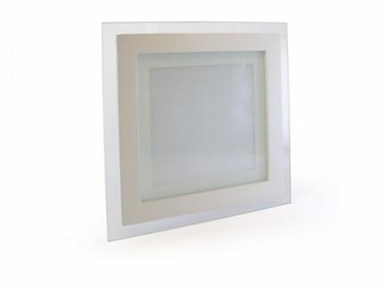 Фото1 459/. Светильник светодиодный потолочный, квадратный врезной, Glass Rim, 220В, 12 Вт, 160мм