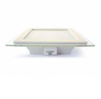Фото2 459/. Светильник светодиодный потолочный, квадратный врезной, Glass Rim, 220В, 12 Вт, 160мм