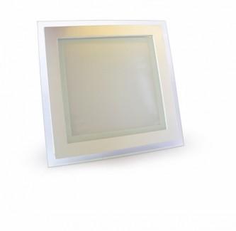 Фото1 460/. Светильник светодиодный потолочный, квадратный врезной, Glass Rim, 220В, 18 Вт, 200мм