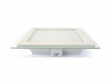 Фото2 460/. Светильник светодиодный потолочный, квадратный врезной, Glass Rim, 220В, 18 Вт, 200мм