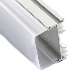 Фото1 Профиль алюминиевый №21 для светодиодных лент накладной 36х23мм наборной (комплект)