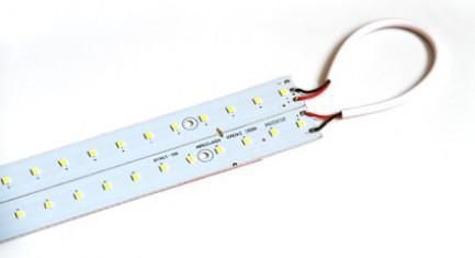 Фото4 MTK-2835.. 14W Комплект LED линеек (2 шт), 160-260 В, для замены ламп дневного света 14W