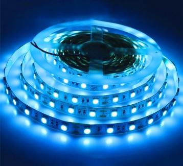 Фото2 МТК-300B5050-12 №1 - LED лента SMD 5050, 60 д/м, 12V, синий, IP20