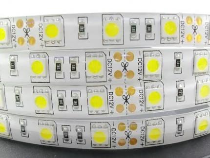 Фото1 МТК-300WF5050-12 №1 - LED лента SMD 5050, 60 д/м, 12V, белый холодный, IP65