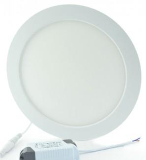 Фото2 551/. Светильник светодиодный потолочный, круглый врезной, Down Light Plastic, 24 Вт, ф295