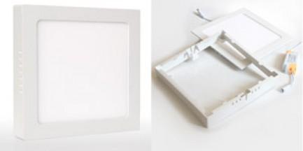 Фото1 566/. Светильник светодиодный потолочный, квадратный накладной, 2 в 1 Wall Light Plastic, 220В, 18 В
