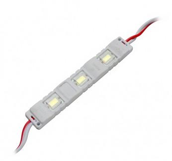 Фото1 MTK-5730-3W - LED модуль SMD5730, с линзой, 12V, 1W, белый, IP67
