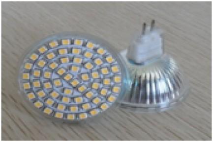 Фото1 LED лампа R63 с цоколем MR16 (G5.3), 220В, 60x3528