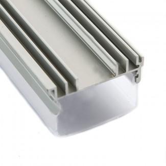 Фото4 Профиль алюминиевый №21 для светодиодных лент накладной 36х23мм наборной (комплект)