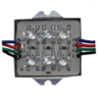 Фото1 AM6-RGB - Влагозащитный модуль Super Flux Led 6 диодов, RGB