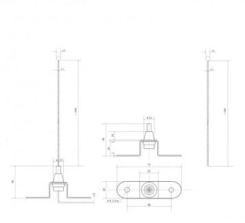 Фото2 Комплект тросового подвеса с цанговым зажимом №6