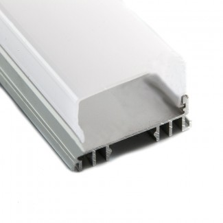 Фото2 Профиль алюминиевый №21 для светодиодных лент накладной 36х23мм наборной (комплект)