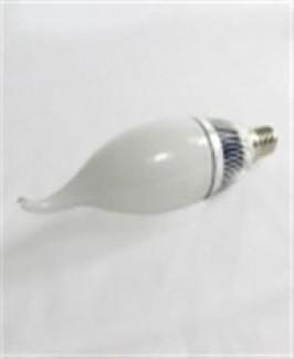 Фото1 LED лампа с цоколем Е14, 200В, свеча