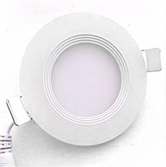 Фото1 739/. Светильник светодиодный потолочный, круглый врезной, Down Light Plastic с каемкой, 18 Вт, ф224