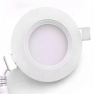 Фото1 743/. Светильник светодиодный потолочный, круглый врезной, Down Light Plastic с каемкой, 6 Вт, ф119