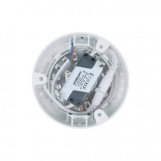 Фото3 761/. Светильник светодиодный потолочный, круглый накладной, 2 в 1 Wall Light Plastic с каемкой, 6 В