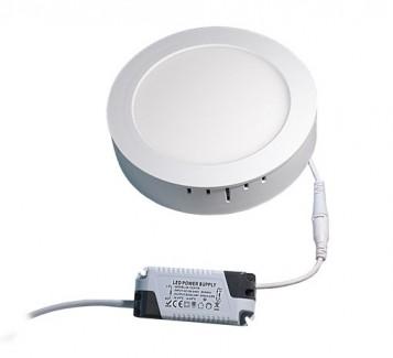 Фото2 762/. Светильник светодиодный потолочный, круглый накладной, 2 в 1 Wall Light Plastic с каемкой, 12