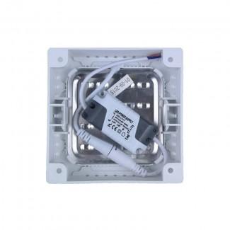 Фото3 766/. Светильник светодиодный потолочный, квадратный накладной, 2 в 1 Wall Light Plastic с каемкой,