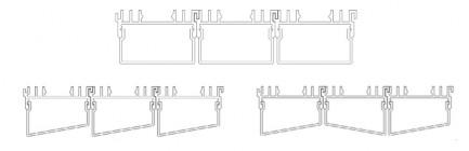 Фото3 Профиль алюминиевый №21 для светодиодных лент накладной 36х23мм наборной (комплект)