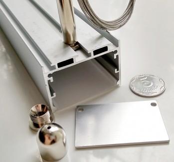 Фото2 Профиль алюминиевый №23 для светодиодных лент накладной 50х35мм (комплект)