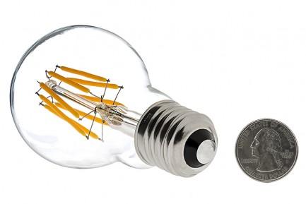 Фото2 SLL E27-A60-4W - LED лампа филамент, 4W, тип A60, цоколь E27, круглая