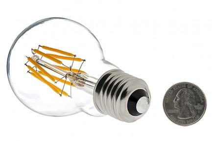 Фото2 SLL E27-A60-5W - LED лампа филамент, 5W, тип A60, цоколь E27, круглая