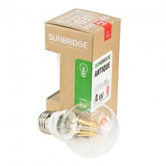 Фото1 SUNBRIDGE Antique E27-4W (warm white) - Светодиодная лампа Antique, цоколь E27, 4 Вт