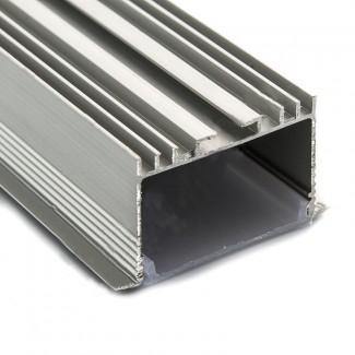 Фото3 Профиль алюминиевый №18 для светодиодных лент встраиваемый 53х30мм (комплект)