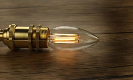 Фото4 SLL E27-C35-4W - LED лампа филамент, 4W, тип С35, цоколь E27, свеча